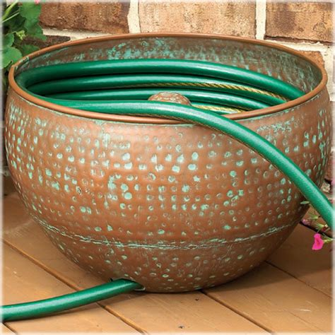 garden hose containers hose holder with copper finish cobraco 174 hhrin s