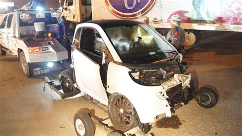 smart car crash critical after smart car crash