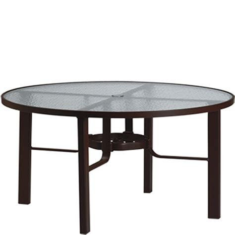 telescope casual 48 inch round glass top patio dining