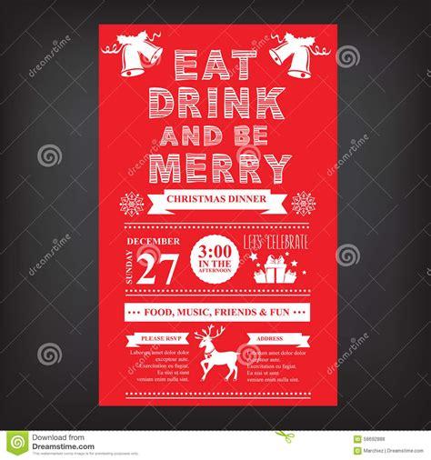 restaurant invitation layout christmas restaurant and party menu invitation stock