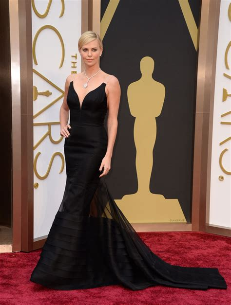 Carpet Clothes From Gorgeous Couture by Charlize Theron 2014 Oscars Carpet