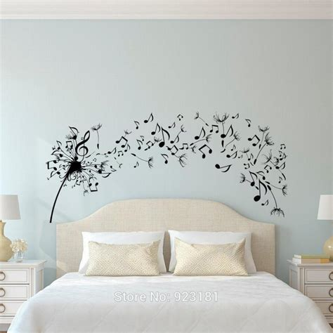 removable wall decals for bedroom dandelion music note flower wall art sticker decal home