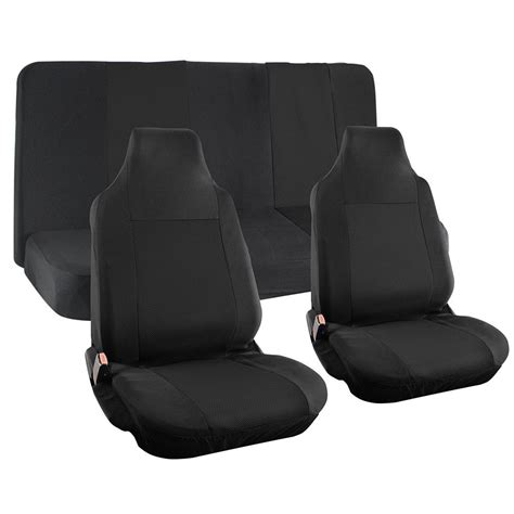 van bench seat covers suv van truck seat cover black 4pc integrated head rest