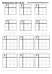 multiplication grid worksheet blank multiplication times