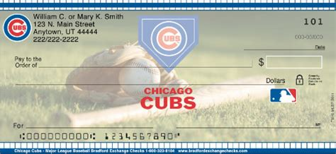 Chicago Background Check Chicago Cubs Mlb 174 Personal Checks