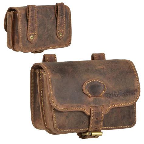 greenburry belt pouch leather antique brown waist bag