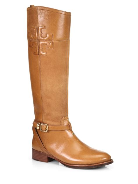 burch boots burch lizzie leather boots in brown bark lyst