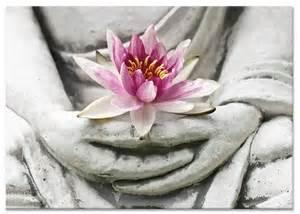 Lotus Flower Mudra Boeddha Lotusbloem Op Canvas Doek My Gallery