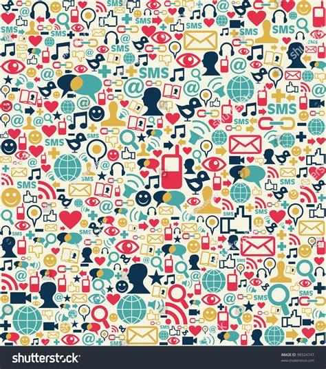 network pattern en français social media network icon set seamless stock illustration