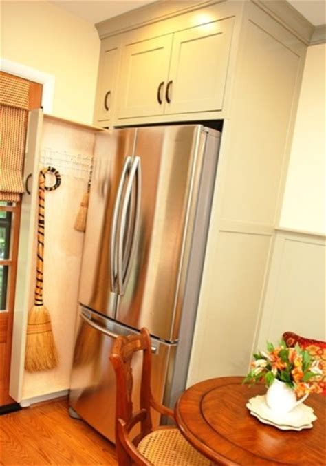 Pull out Broom Storage in a Kitchen   Kitchen   DC Metro