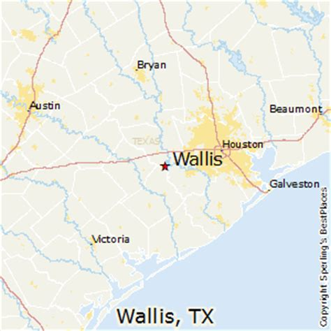 show map of texas best places to live in wallis texas