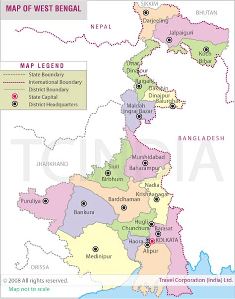 bengal india map geography maps of west bengal india