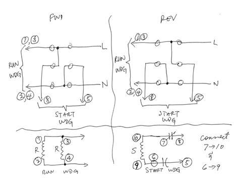 capacitor start motor wiring diagram craftsman craftsman 1