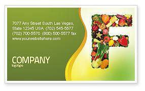 food business card template layout download food