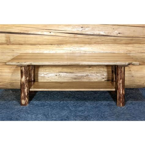 Pine Coffee Tables With Storage Montana Woodworks Glacier Country Puritan Pine Storage Coffee Table Mwgcctn The Home Depot