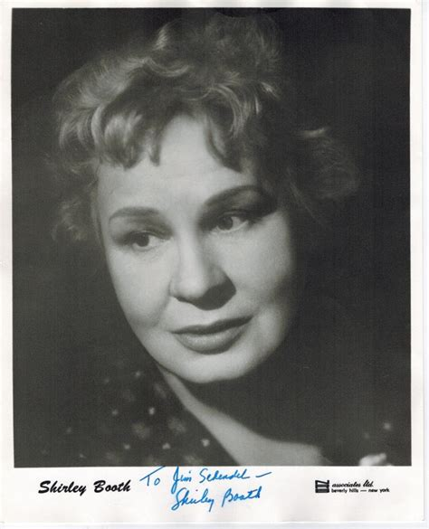 shirley booth house shirley booth hand signed photo