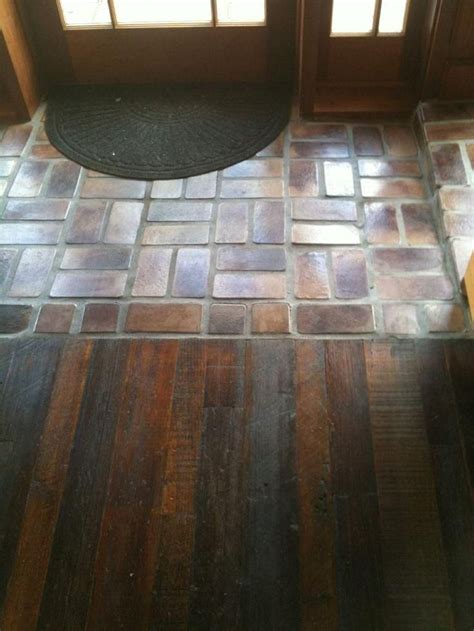 awesome tile entryway  wood floor