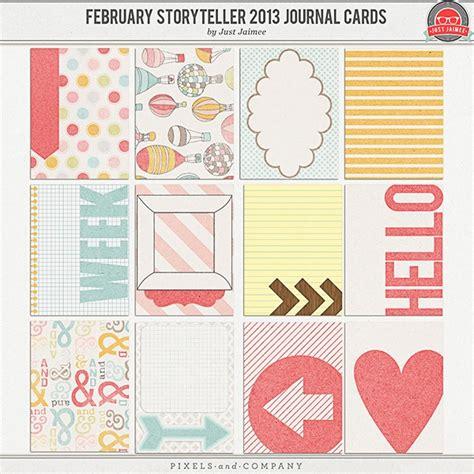 printable scrapbook journal templates february storyteller 2013 journal cards journaling card
