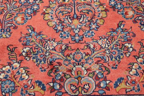 Salmon Colored Rugs by New Floral Salmon Color 9x12 Sarouk Area