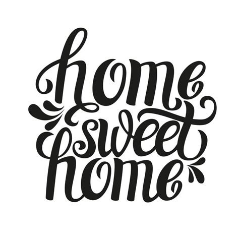 hand lettering typography poster home sweet home wall