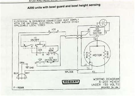 hobart mixer motor wiring diagram get free image about