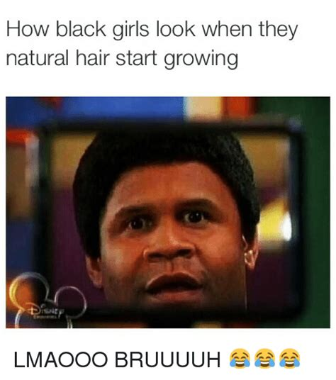 Black Hair Meme - how black girls look when they natural hair start growing
