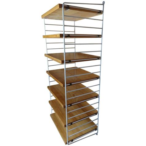 string shelving retro 1950s tall string wall system shelving unit for sale