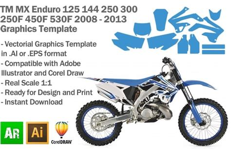 motocross graphic templates motocross graphics templates images