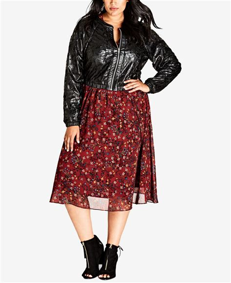 Found A City Chic Leather Coat by Lyst City Chic Trendy Plus Size Faux Leather Lace