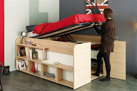 closet under bed clever bed designs with integrated storage for max efficiency