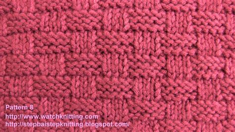 basket stitch free knitting tutorials watch knitting pattern 8 youtube