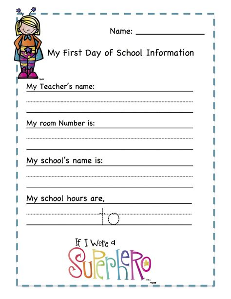 Printable School Worksheets by Day Of School Coloring Pages For Kindergarten Free