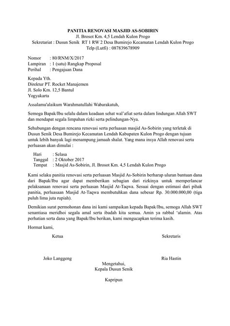 Contoh Surat Pengajuan Barang by Contoh Surat Pengajuan Yang Benar