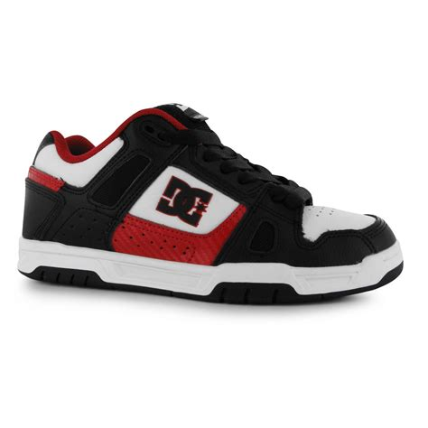 dc skate shoes dc stag skate shoes mens black white casual trainers
