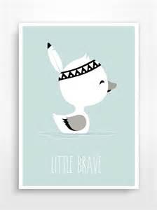 affiche d 233 co pour chambre d enfant brave