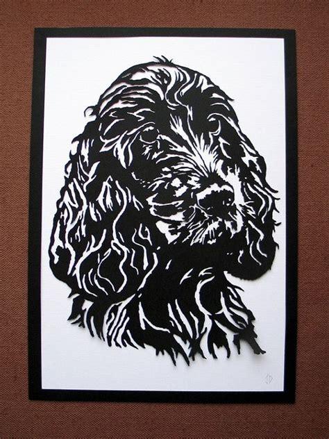 springer paper template springer spaniel papercut paper cut puppy