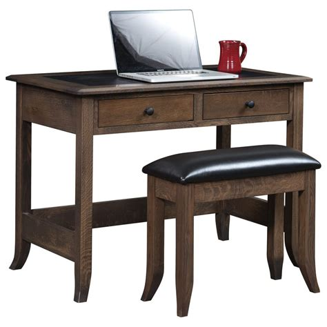 Bunker Hill Writing Desk With Bench   Amish Crafted Furniture