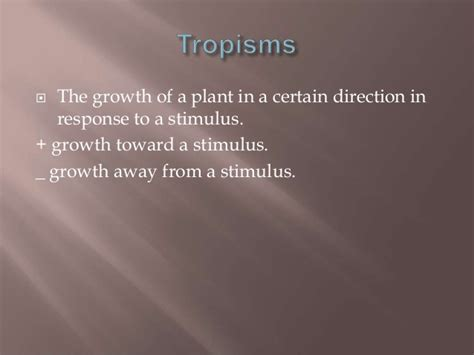 nastic and tropic movement in plants taxism tropism and nastic movements