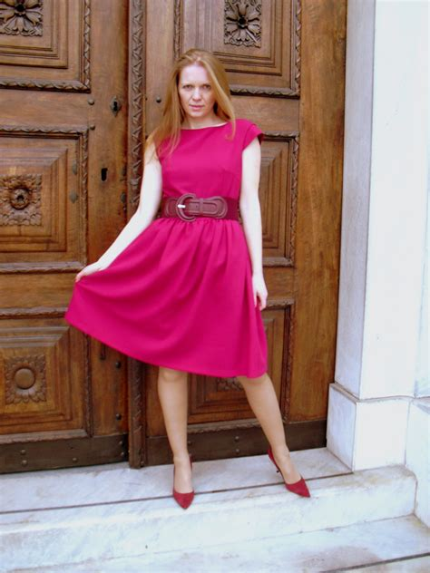 dress husband as a girl raspberry dress silk lace and steel