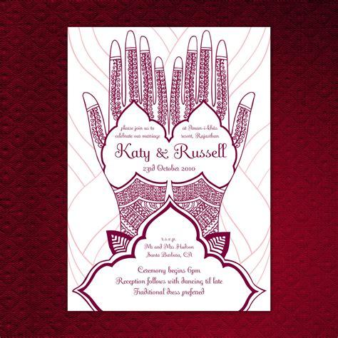 henna design invitation items similar to printable mehndi hand wedding invitation