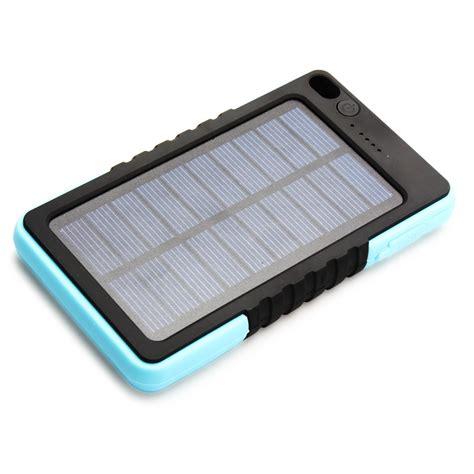 waterproof solar battery charger portable 8000mah waterproof solar charger power bank