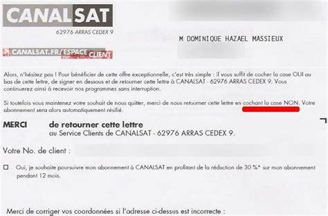 Resiliation Lettre Freebox Canalsat Quand Tu Nous Tiens