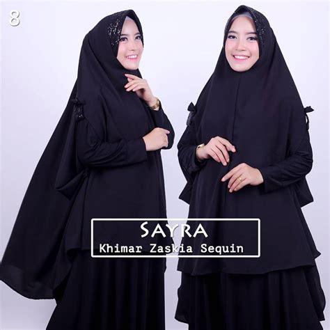 Jilbab Khimar Zaskia Terbaru Dan Eksklusif jual khimar zaskia sequin pet by sayra toko jilbab branded instan kerudung