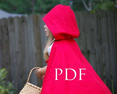 simple pattern for red riding hood cloak little lizard king sewing patterns cape tutorial