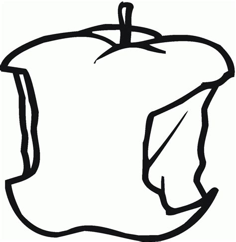 bitten apple coloring page apple bite coloring page fruits drawings of apples