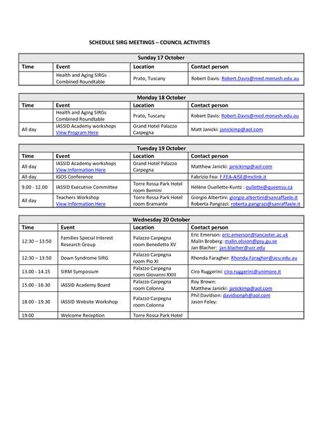 Event Schedule Template Schedule Template Free Event Schedule Template Docs