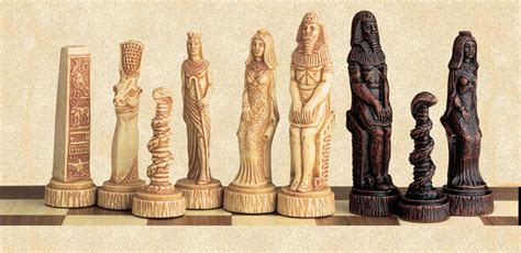ancient chess ancient egyptian gods chess pieces