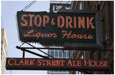 Clark Ale House by A N Crumbling Temples South Side Landmarks Neon