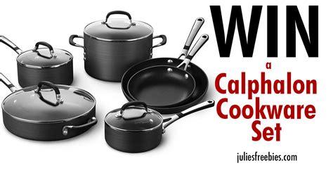 Calphalon Sweepstakes - simply calphalon 10 piece cookware set julie s freebies