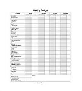 weekly budget worksheet printable worksheets for school